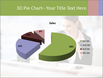 Young businesswoman PowerPoint Templates - Slide 35