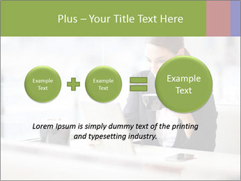 Young businesswoman PowerPoint Templates - Slide 75