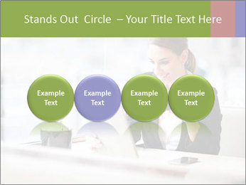 Young businesswoman PowerPoint Templates - Slide 76