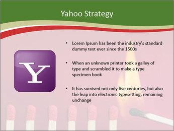 Burning match setting fire PowerPoint Template - Slide 11