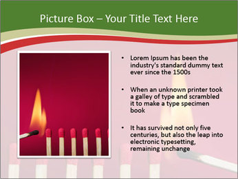 Burning match setting fire PowerPoint Templates - Slide 13