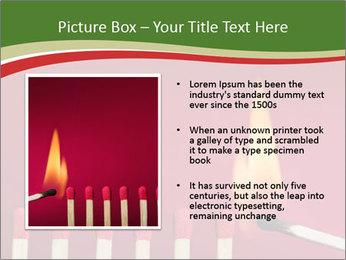 Burning match setting fire PowerPoint Template - Slide 13