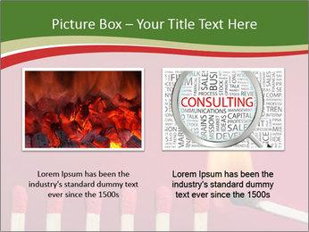 Burning match setting fire PowerPoint Template - Slide 18