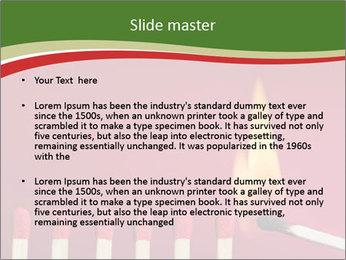 Burning match setting fire PowerPoint Template - Slide 2