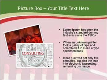 Burning match setting fire PowerPoint Template - Slide 20