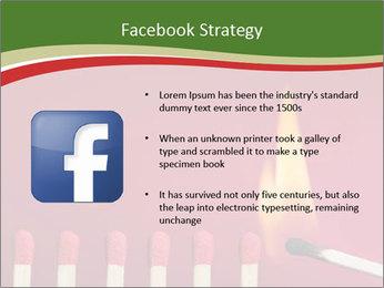 Burning match setting fire PowerPoint Template - Slide 6