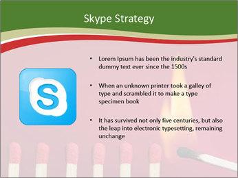 Burning match setting fire PowerPoint Template - Slide 8