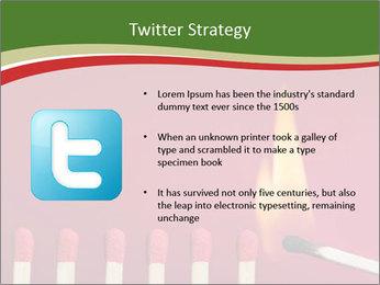 Burning match setting fire PowerPoint Template - Slide 9