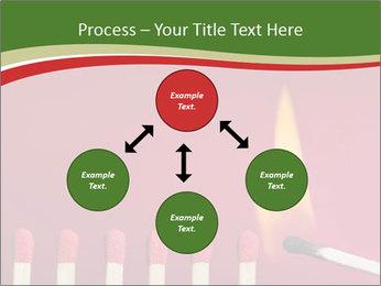 Burning match setting fire PowerPoint Template - Slide 91