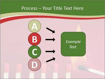 Burning match setting fire PowerPoint Template - Slide 94