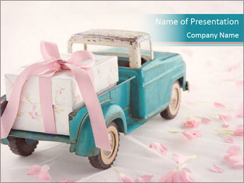 Old antique toy truck PowerPoint Templates - Slide 1