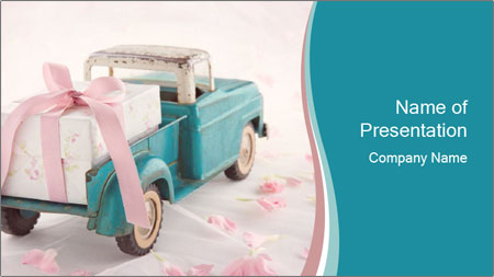 Old antique toy truck PowerPoint Template