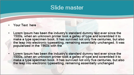 Old antique toy truck PowerPoint Template - Slide 2