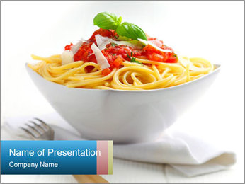 Pasta PowerPoint Template - Slide 1