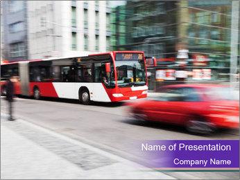 City traffic PowerPoint Template - Slide 1