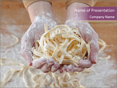 Fresh italian pasta PowerPoint Templates