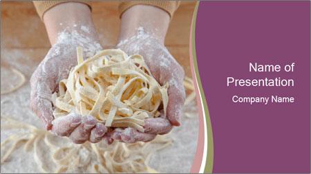 Fresh italian pasta PowerPoint Template