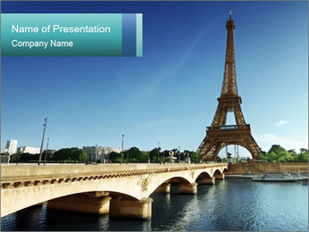 Eiffel tower PowerPoint Template - Slide 1