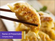 Homemade Asian Vegeterian Potstickers PowerPoint Templates