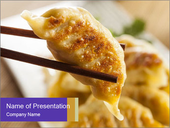 Homemade Asian Vegeterian Potstickers PowerPoint Template - Slide 1