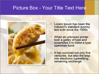 Homemade Asian Vegeterian Potstickers PowerPoint Template - Slide 13