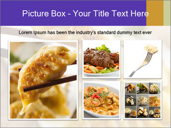 Homemade Asian Vegeterian Potstickers PowerPoint Template - Slide 19