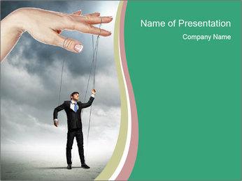 Businessman marionette PowerPoint Templates - Slide 1