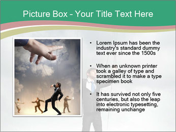 Businessman marionette PowerPoint Template - Slide 13