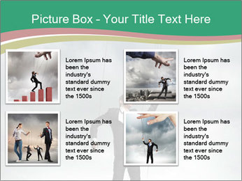 Businessman marionette PowerPoint Template - Slide 14