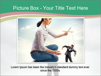Businessman marionette PowerPoint Template - Slide 15