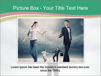 Businessman marionette PowerPoint Template - Slide 16