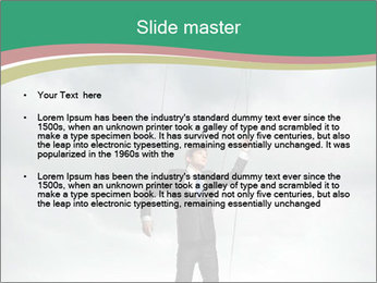 Businessman marionette PowerPoint Template - Slide 2