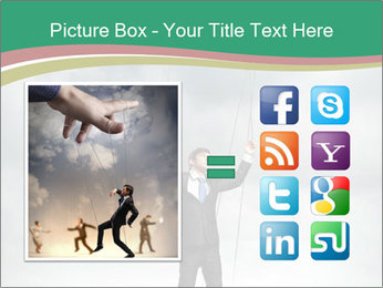Businessman marionette PowerPoint Template - Slide 21