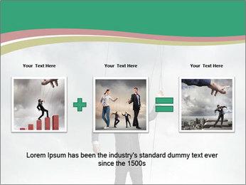 Businessman marionette PowerPoint Templates - Slide 22