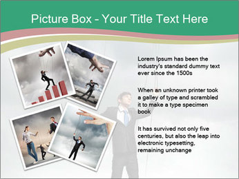 Businessman marionette PowerPoint Template - Slide 23