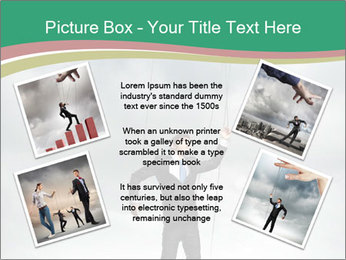 Businessman marionette PowerPoint Template - Slide 24