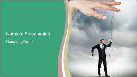 Businessman marionette PowerPoint Template