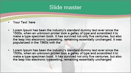 Businessman marionette PowerPoint Template - Slide 2