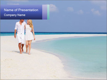 Romantic Couple Walking PowerPoint Template