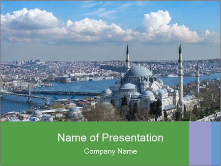 Istanbul city view PowerPoint Templates