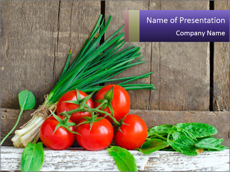 Fresh tomatoes PowerPoint Templates