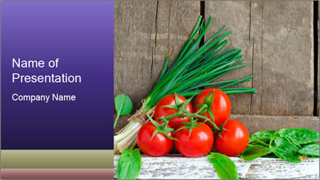 Fresh tomatoes PowerPoint Template