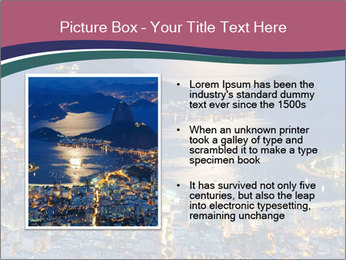 Night view of mountain Sugar Loaf PowerPoint Templates - Slide 13