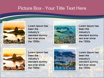 Night view of mountain Sugar Loaf PowerPoint Templates - Slide 14