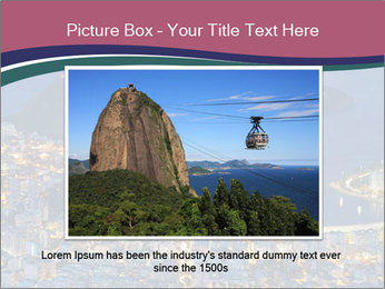 Night view of mountain Sugar Loaf PowerPoint Templates - Slide 15