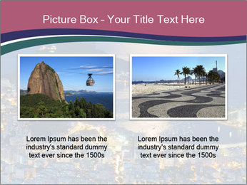 Night view of mountain Sugar Loaf PowerPoint Templates - Slide 18