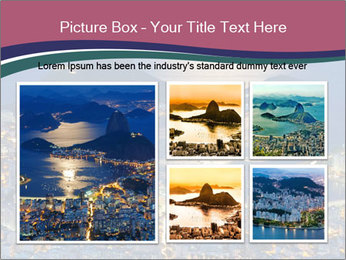 Night view of mountain Sugar Loaf PowerPoint Templates - Slide 19