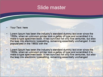 Night view of mountain Sugar Loaf PowerPoint Templates - Slide 2