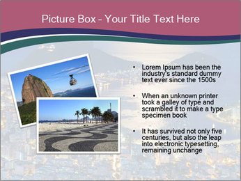 Night view of mountain Sugar Loaf PowerPoint Templates - Slide 20