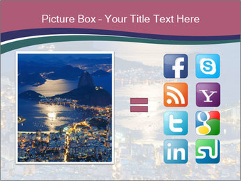 Night view of mountain Sugar Loaf PowerPoint Templates - Slide 21